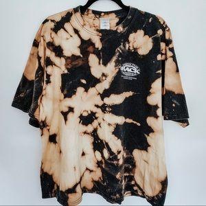 The Rack Brew Pub Bleached Tie Dye Black T-Shirt